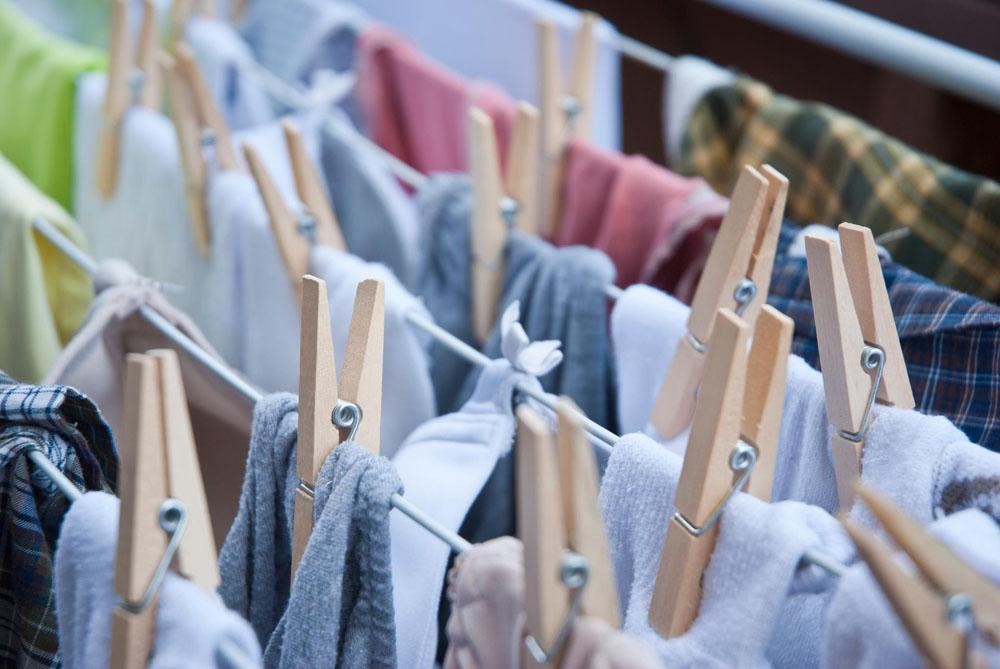 Wie wird Wäsche im Winter trocken?